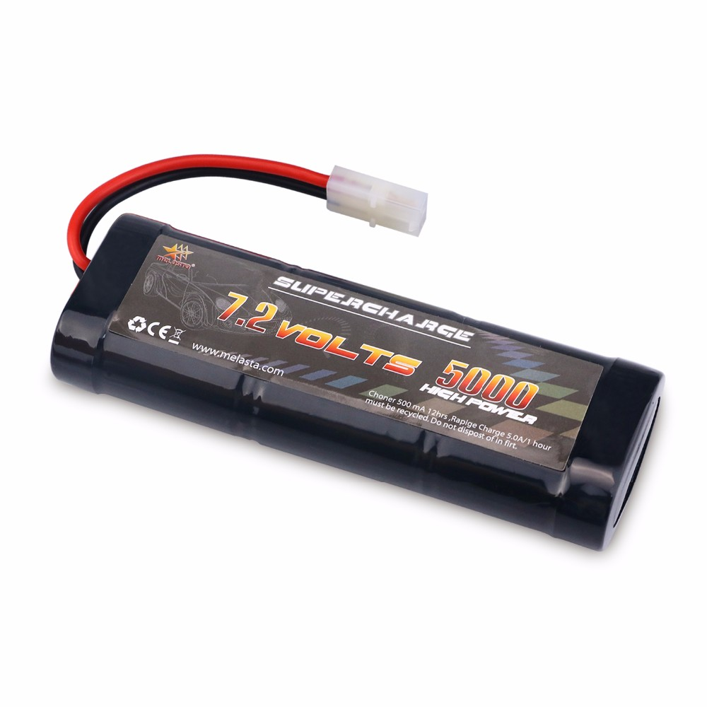 MELASTA RC Battery 7.2V 5000mAh Ni-MH High Power with Tamiya Discharge Connector for RC Racing Cars Boat Aircraft sc ni mh 7 2v 5000mah battery for rc car rc boat 1 10 rc tank free shipping