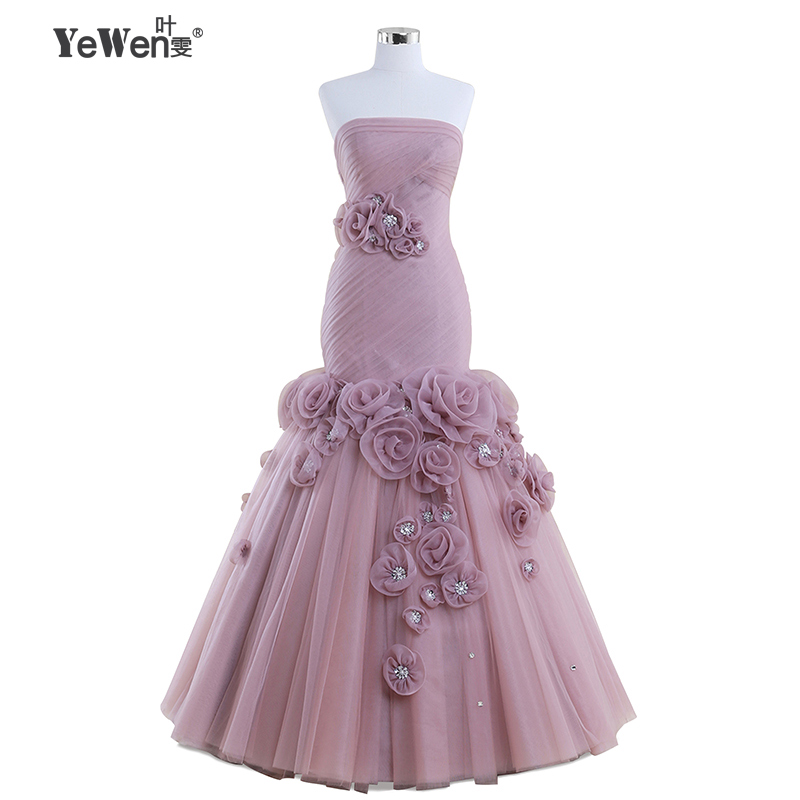 Sexy Women Flowers party Lace Long Elegant purple Mermaid Prom Dresses 2018 Evening Dress gowns robe de soiree longue