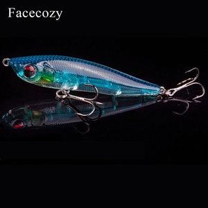 Image 3 - Facecozy Fishing Lures Luminous Minnow Artificial Bait 1Pc 6.5/8/9CM Multi color Transparent Swimbait Suitable for Trolling