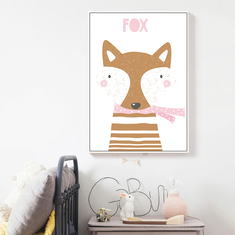 Nursery Unicorn Rabbit Canvas Art Posters Woodland Animal Cartoon Kawaii Prints Painting Wall Picture Baby Room Home Decoration in Painting Calligraphy from Home Garden