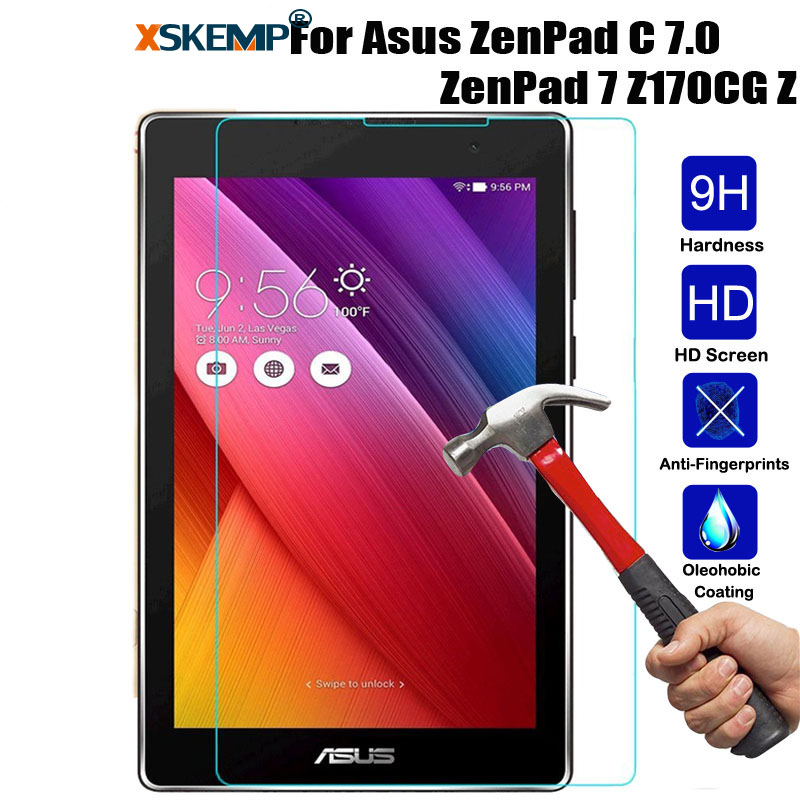 XSKEMP Tempered Glass For ASUS ZenPad C 7.0 Z170C Z170CG Z171CG Tablet Screen Protector 9H Hard Ultra Thin Protective Film Guard