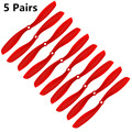 Hot Sale fpv 8045 Props 80x45 Cw/ccw Propeller For Multicopter Quadcopter Airplanes Plastic Prop Red 5 Pairs