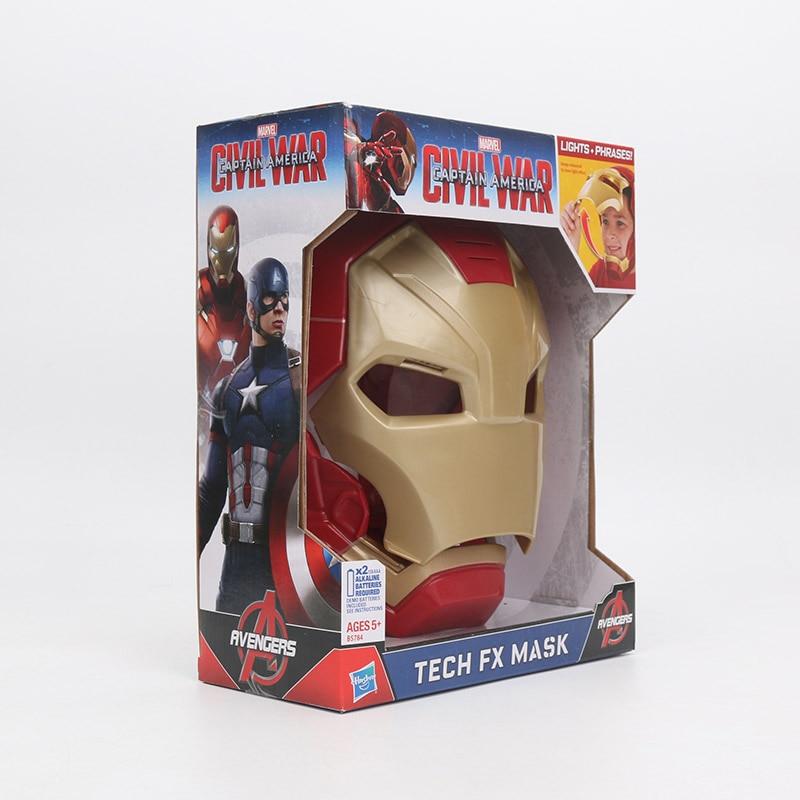 Hasbro Marvel Toys Electronic Captain America Civil War Iron Man Tech Fx Mask Lights Phrases Avengers Superhero Full Face Mask #6