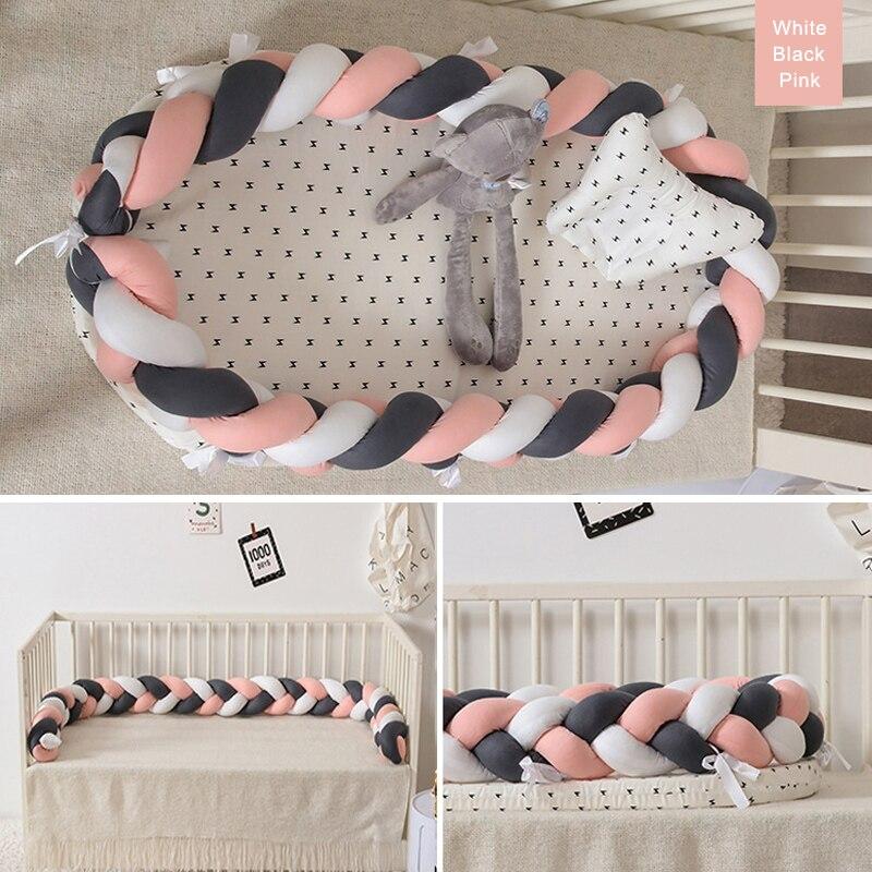 Nouveauté nouveau-né bébé tricot Portable amovible et lavable berceau pour nouveau-né bébé nid sommeil lit voyage berceau lit nid