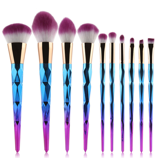 New Arrival 10 PCS Makeup Brushes Fantasy Set Foundation Powder Eyeshadow Kits Gradient color makeup brush set