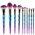 Nueva Llegada 10 UNIDS Fantasy Set Fundación Pinceles de Maquillaje Kits de Degradado de color de Sombra de Ojos En Polvo de maquillaje cepillo conjunto