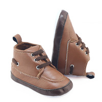 New Baby Classic Cowboy Boots PU Buckle Soft Rubber Baby Girl Winter Boots Baby Toddler Winter