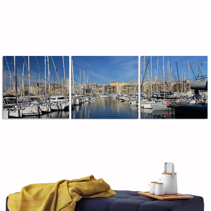 Marseille Canvas Poster Painting Modern Oil on Custom Print Sets Camera Instant Tableau