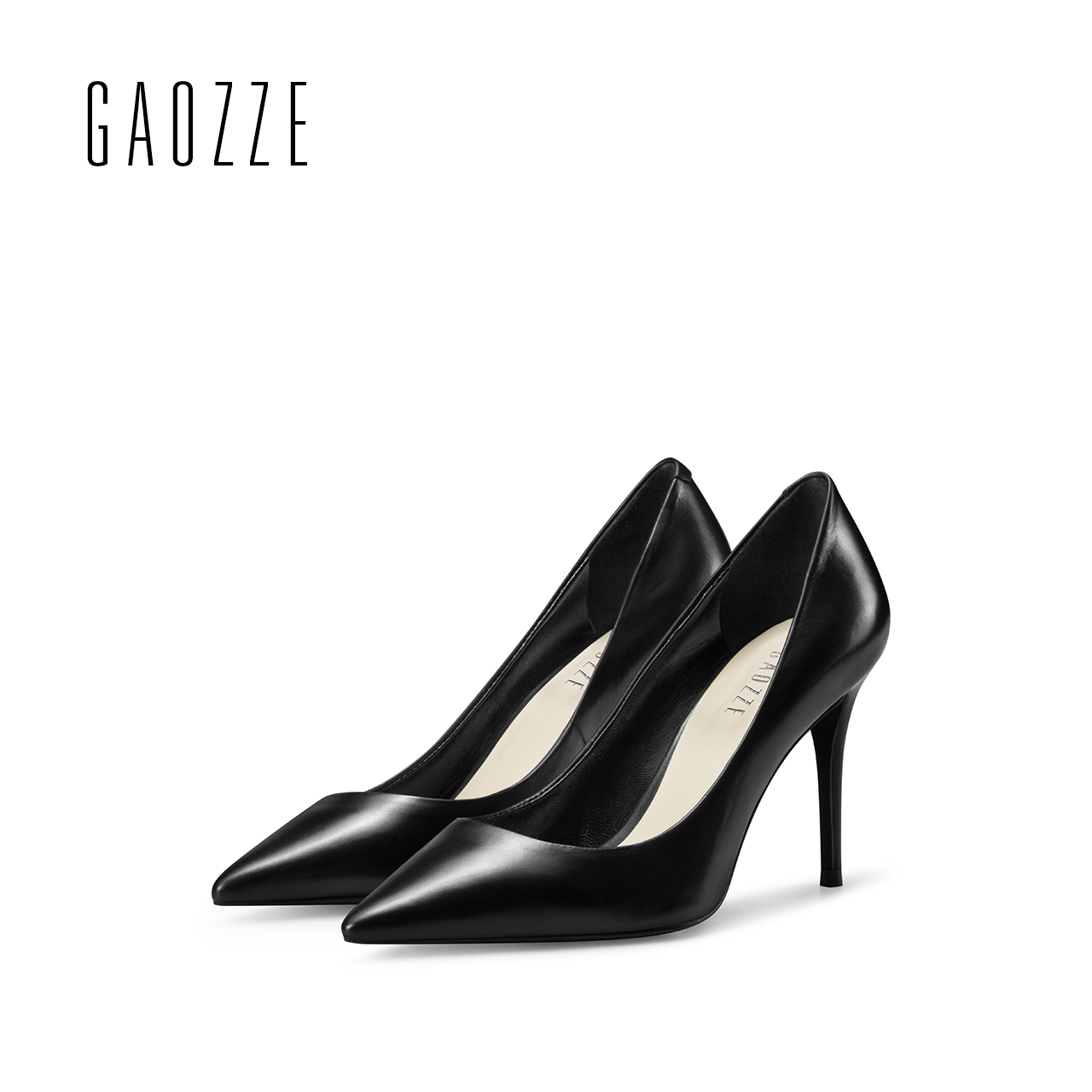GAOZZE 2017 Women pumps Fashion pointed toe leather stiletto high heels shoes Spring Summer Wedding Shoes woman high heel new hollow pointed stiletto elegant spring summer women pumps sweet bowknot high heeled shoes thin pink high heel shoes k88