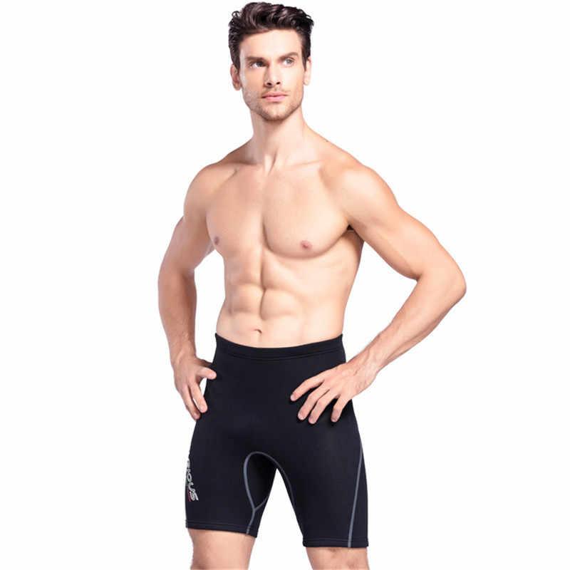 2 MM Neopren Dalış Şort Wetsuit kısa pantolon Erkekler Için Yaz Kış Yüzme Kürek Yelken Sörf Sıcak Tutmak Dalış Pantolon