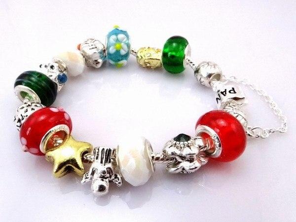 Hot!Free Shipping wholesale 925 Silver jewelry charms bracelet silver bracelet.clear crystal beads bracelet  Pp011