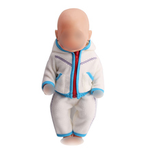 Doll clothes boy doll white pajamas casual suit fit 43 cm baby dolls and 18 inch Girl accessories a8