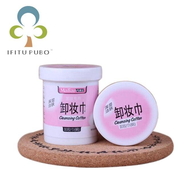 lingettes humides pour femmes lingettes d/émaquillantes pour le visage d/émaquillant soin de la peau 1 bo/îte de lingettes en coton pour le visage blanc