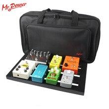גיטרה דוושת התקנת לוח גדול יותר סגנון DIY גיטרה Pedalboard עם קסם קלטת כלי נגינה אבזר חדש 200 B