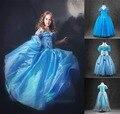 2016 новорожденных девочек принцесса золушка платье хэллоуин дети косплей костюм сказка принцесса партия платье vestido infantil