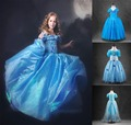 2016 de los bebés de princesa cenicienta vestido de los niños de halloween cosplay traje de cuento de hadas princesa vestido de fiesta vestido infantil