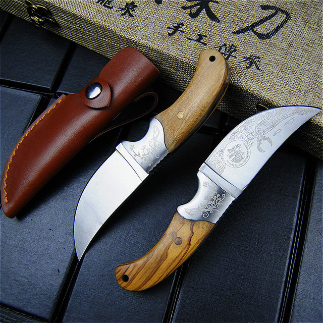 EVERRICH High quality Army Tactical Knife Camping Hunting Knife Shadow Wood Fixed Blade Knife Outdoor Survival Rescue EDC Tools 4