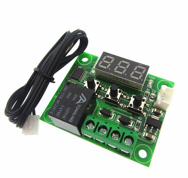 1pcs W1209 Mini thermostat Temperature controller Incubation thermostat temperature control switch radio frequency control wireless boiler thermostat temperature controller