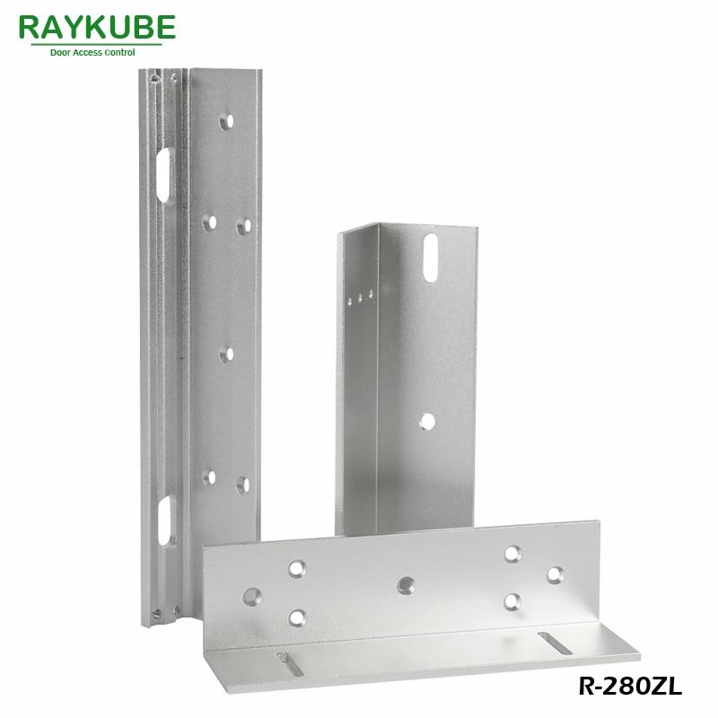 RAYKUBE Lock Bracket For 280KG Electric Magnetic Lock Installing ZL Bracket High-Strength Aluminum Alloy R-280ZL raykube u bracket for 180kg electric magnetic lock install glass door r 180u