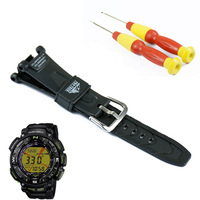 Pin buckle black resin strap men for Casio outdoor sports hiking waterproof watch with PRG 240 PRG 40 watch band accessories