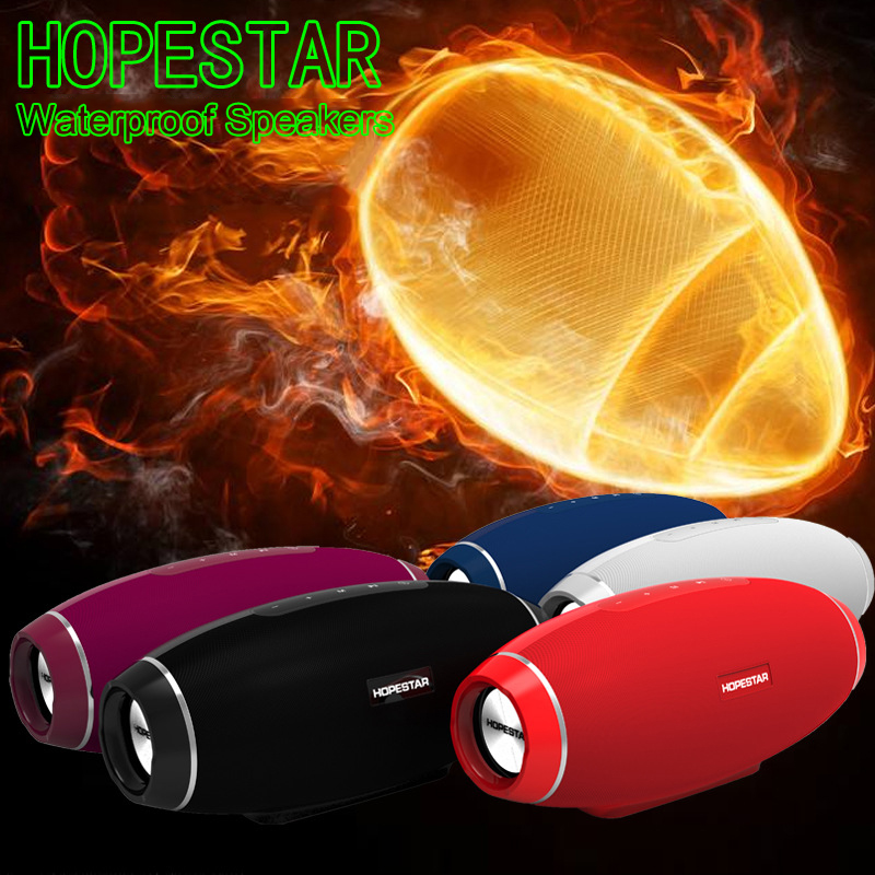 Hopestar Rugby Waterproof Bluetooth Speaker Super Bass Stereo Vibration Speakers Subwoofer MP3 Player AUX Portable Loudspeakers 20w portable wooden high power bluetooth speaker dancing loudspeaker wireless stereo super bass boombox radio receiver subwoofer