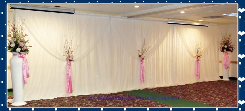 3m X 6m White Wedding Curtain Backdrops Drape Wedding