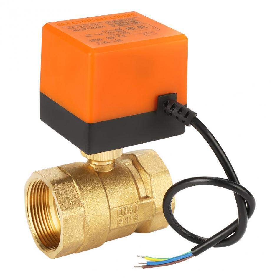 AC220v, 1-1//4 pulgada DN32 Valvula de zona motorizada valvula 2 vias motorizada AC 220v 24v 1//2 3//4 1 1-1//4 pulgada
