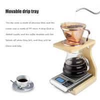 Coffee Filter Cup Holder Drip Filter Paper Filter Set Coffee Wooden Stable Rack Espresso Coffee Filters Barista Accessories