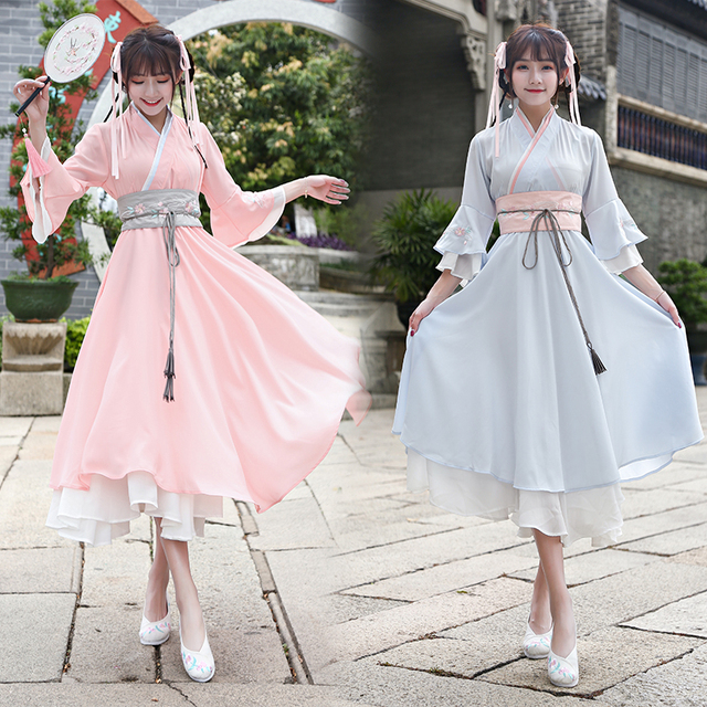 4905fdf3c Hanfu national costume Ancient Chinese Cosplay Costume Ancient Chinese girl  Hanfu Clothes Lady Cantonese Traditional Stage Dress