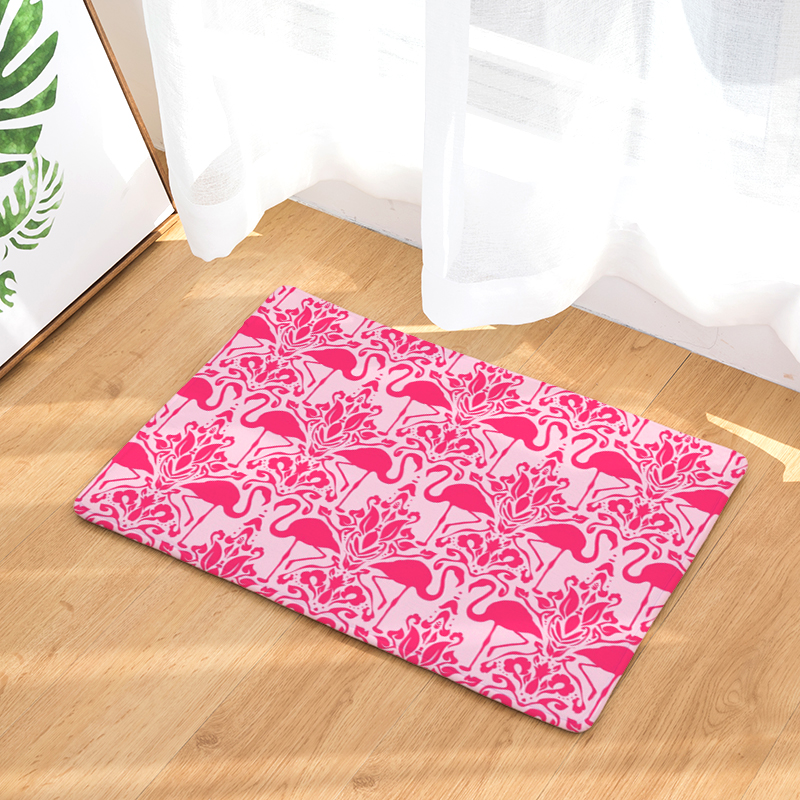 New Anti- Slip Welcome Floor Mats Cute Flamingo Hallway Kitchen Rug Decoration Stair Carpets Light Thin Crafts Rugs