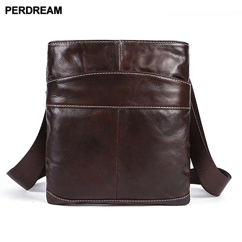 Brand leather men's bag custom top layer cowhide men's single shoulder bag casual slung leather bag men's bag one hai цена 2017