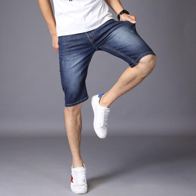 Stretch Slim Denim Shorts  3