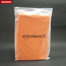 ROCOHANTI personnalisé, bloc blanc imprimé, fermeture à glissière, sacs en plastique à fermeture éclair, sac de Shopping transparent givré 30x40cm