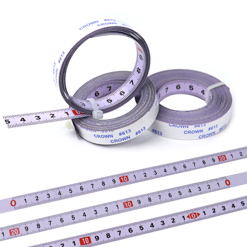 Self-Adhesive Tape Measure Metric 0.9M-10M Miter Track Measuring Tape Steel Ruler For T-track Router Saw Table Woodworking Tools