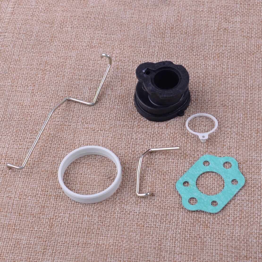 LEATOSK 6pcs/Set Throttle Lever & Choke Rod & Intake Manifold &Gasket Fit For STIHL MS180 MS180C MS170 017 018
