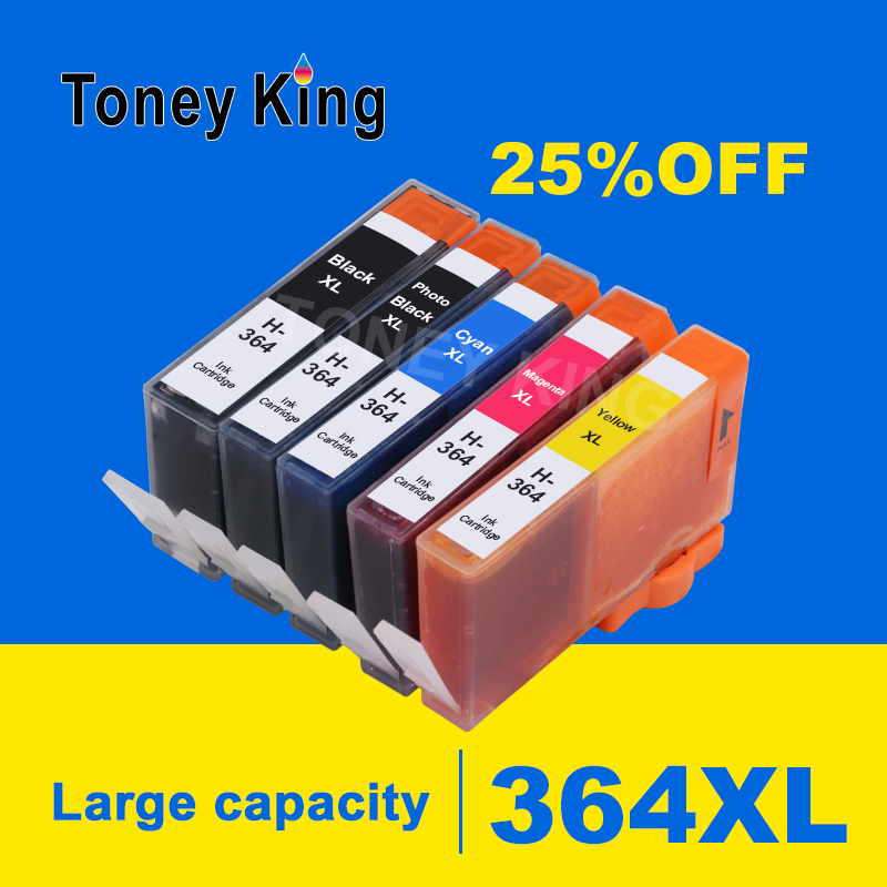 5 Color for <font><b>HP</b></font> 364 Ink Cartridge for <font><b>HP</b></font> <font><b>364XL</b></font> Cartridges Photosmart C510a C309a C310a C410b D5468 D5463 D5460 D7560 Printers image