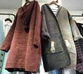 Vintage mori chica otoño invierno con capucha chaqueta de punto chaqueta de la capa mujeres étnico donna chaqueta mujer espesar abrigo chaqueta clothing
