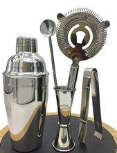 Premium 5 stücke von barkeeper kit: cocktail shaker, Jigger, löffel, Eiszange, eis Sieb, Barware/Bar Set Werkzeuge/Martini