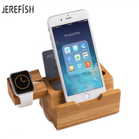 Wooden Charging Dock Station Mobile Phone Holder Stand For iPhone 7 Plus 6 6S Plus For APPLE Watch Cellphone Holder Stand