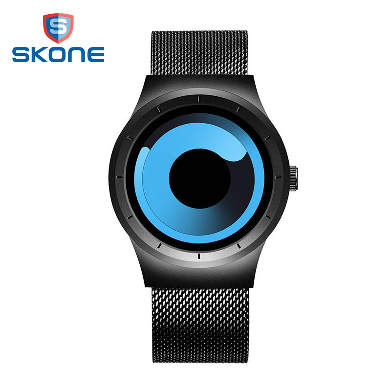 SKONE  New 2017  Fashion Creative Sport Watch Men Top Brand Luxury   Saat Stainless Steel  Quartz Mens Watches Reloj Hombre XFCS mens watch top luxury brand fashion hollow clock male casual sport wristwatch men pirate skull style quartz watch reloj homber