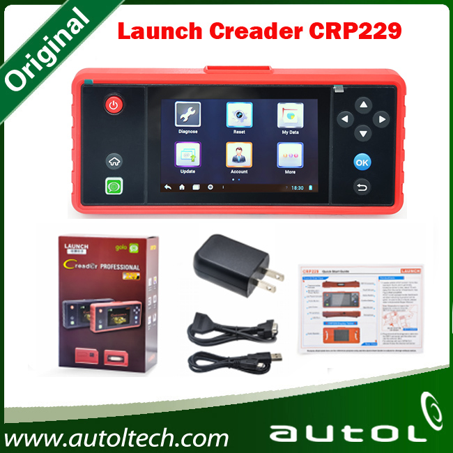 2016 new arrival launch creader crp229 touch 5.0
