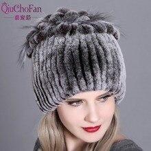قبعة من الفرو للسيدات لفصل الشتاء قبعة من فرو الثعلب الطبيعي ريكس الأرنب قبعة الفرو الروسية الإناث 2018 العلامة التجارية الجديدة قبعة دافئة من القماش