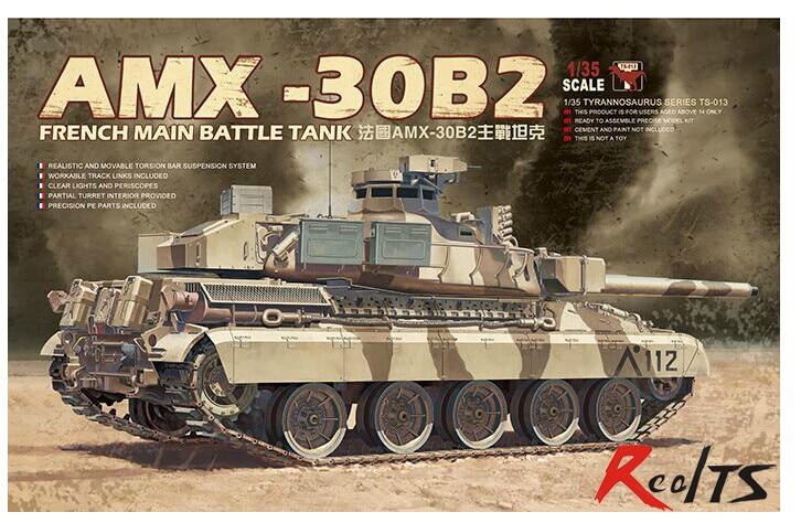 Meng Model 1/35 TS-013 AMX-30B2 French Main Battle Tank Plastic Model Kit