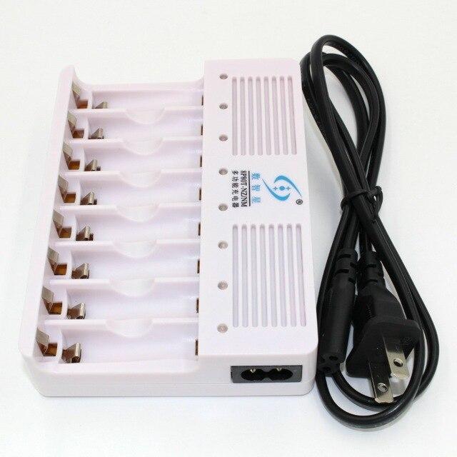 8 слотов зарядное устройство для AA/aa1.6v Ni-Zn и 1,2 v NiMH перезаряжаемые батареи