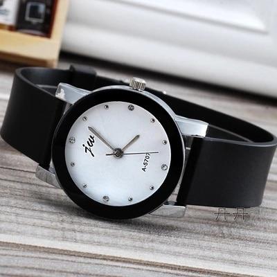 Fashion Jw Brand Casual Quartz WomenMen Lovers Clock Leather Strap Student Watch