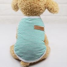 Летний жилет для щенков, одежда для маленьких собак, хлопковая футболка, одежда для собак, жилет, одежда для собак, жилет