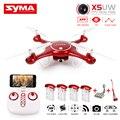Syma x5uw fpv rc quadcopter controle wi-fi câmera hd móvel, caminho de vôo, altura de segurar, uma chave terra 2.4g 6-axis rc helicóptero vs x5uc