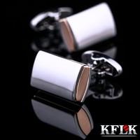 2020 KFLK Luxury  Fashion shirt cufflink mens gift Brand cuff buttons Crystal  silver cuff link High Quality Black Jewelry