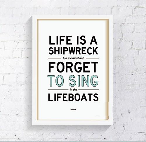 Life Canvas Quote Simple Life Quote Canvas Art Print Poster Wall Pictures For Room Home