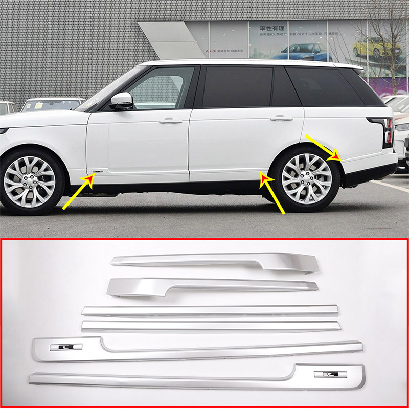Range Rover Long Wheelbase >> Us 287 86 26 Off Silver Base And Long Wheelbase Side Decoration Strip Trim Replacement Parts For Landrover Range Rover Vogue 14 17 Car Accessory In